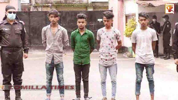 কুমিল্লায় অপহরনের ৪ ঘন্টার পর তরুনীকে উদ্ধার, চার অপহরনকারী আটক